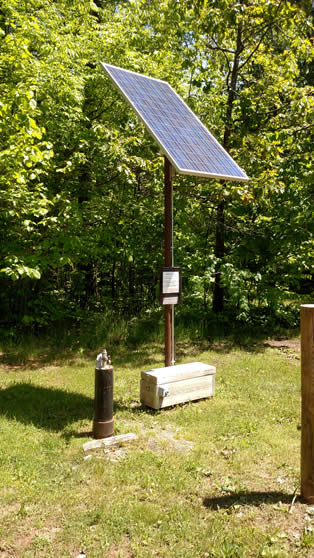 Solar well at Siskiwit lake campgrounds Cornucopia,Wisconsin