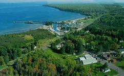 Aerial view of Cornucopia